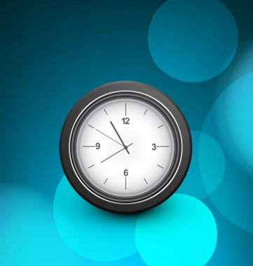 Clock single blue colorful circle background Vector