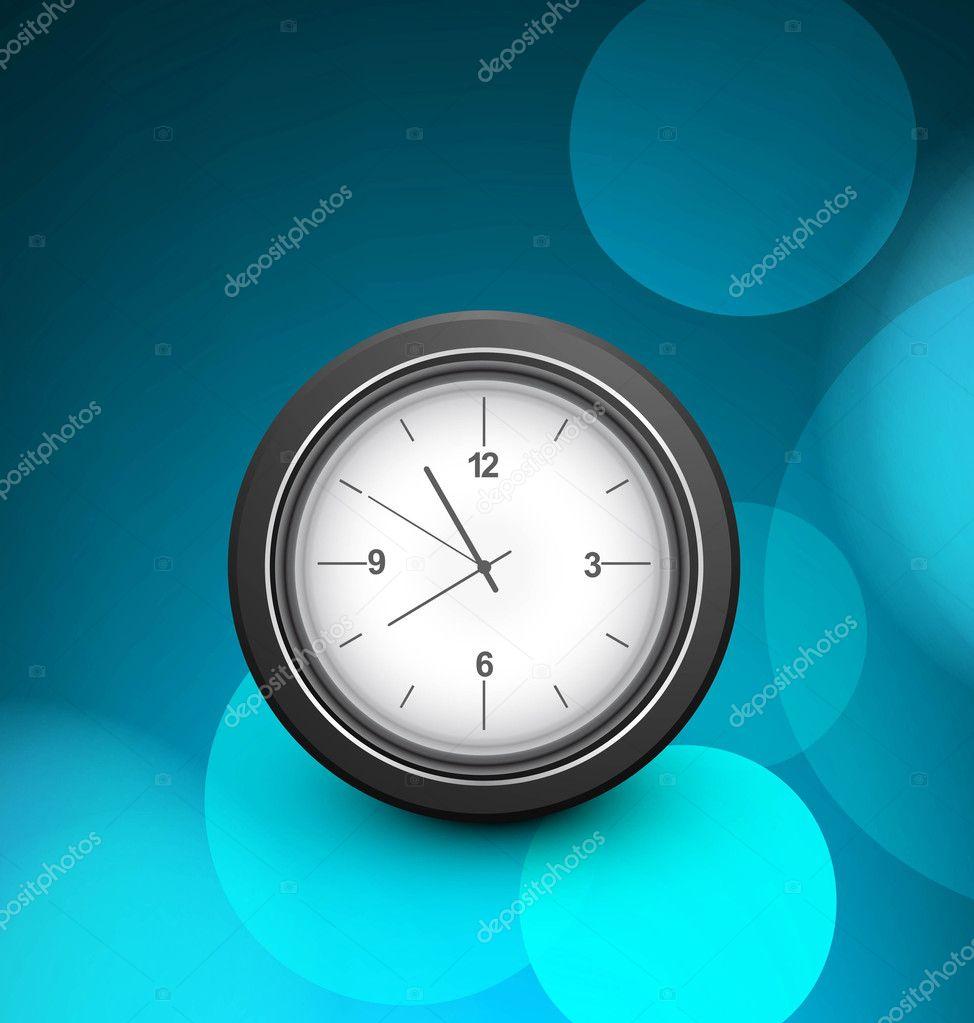 2da458adc04 Vetor de fundo relógio único círculo colorido azul — Vetores de Stock