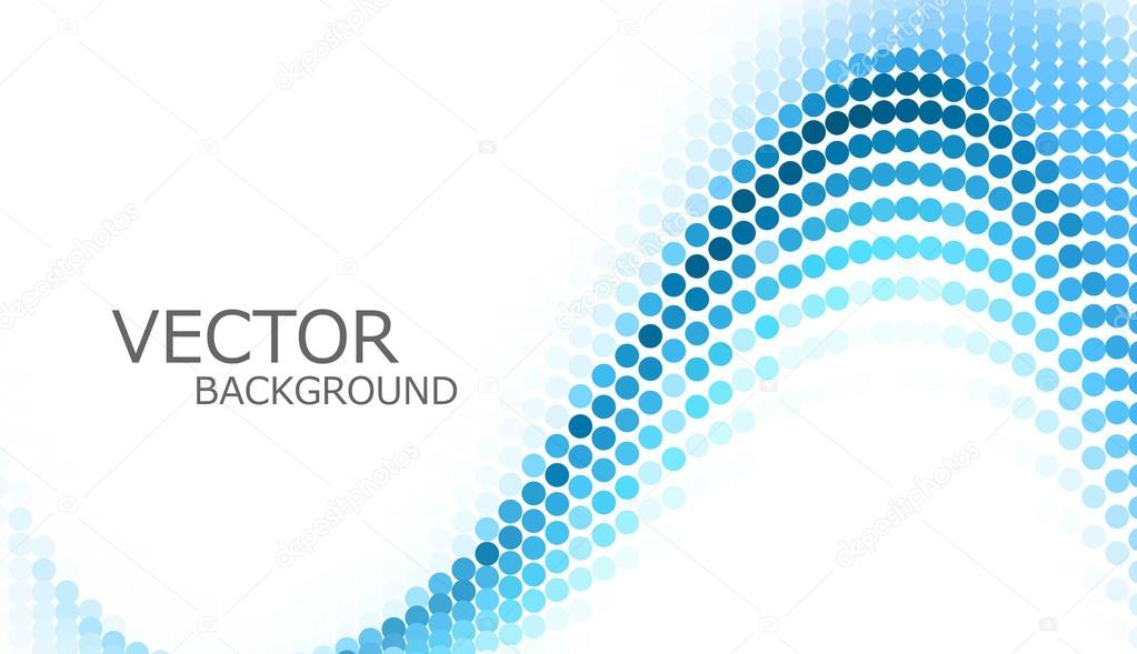 Abstract blue circle wave colorful background vector