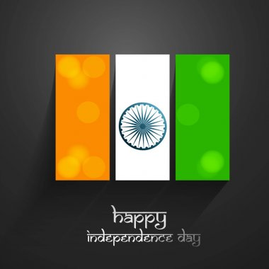 Tricolor flag icon Happy Independence day holiday illustration v