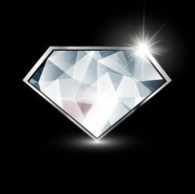 Diamond jewellery stone colorful vector design