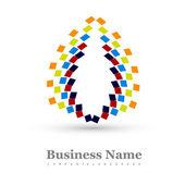 obchodní ikonu multicolor barevné stylový kruh prvek designu