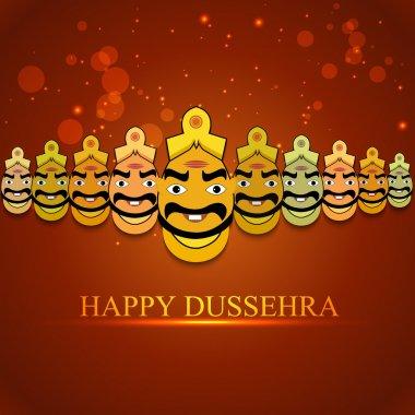 Indian festival Dussehra for Ravan with his ten heads design vector stock vector