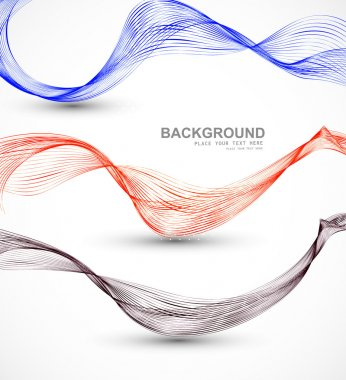 Abstract different business line wire wave vector whit backgroun