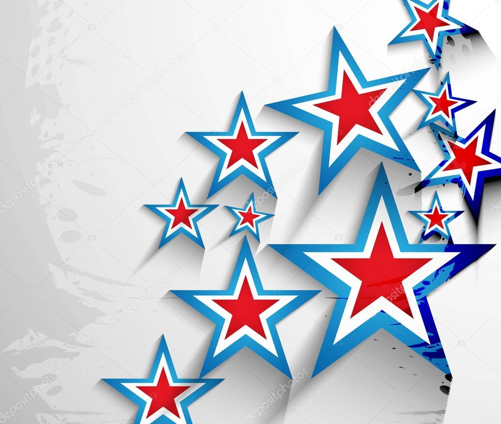 4th of July American Independence Day stars background vector
