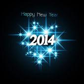 Zázemí pro lesklé hvězdy šťastný nový rok 2014 modré barevné špatně
