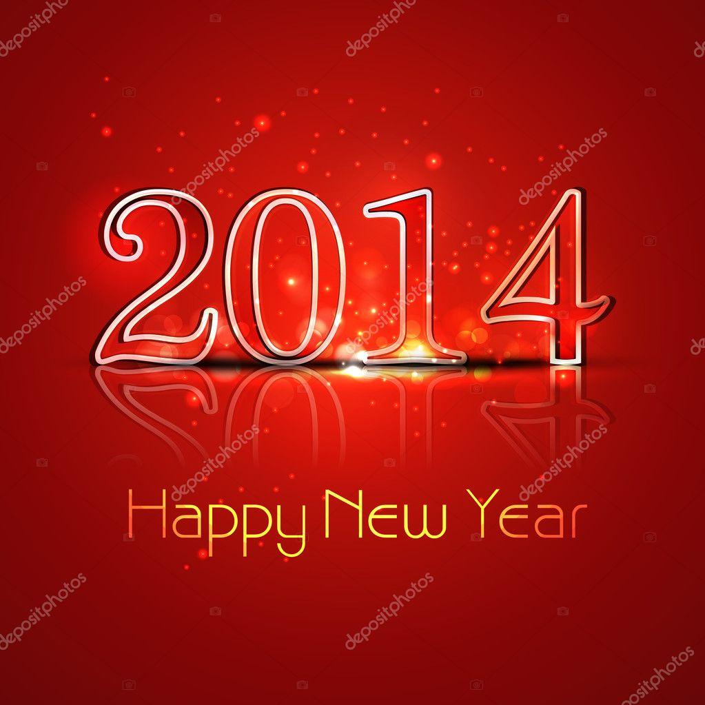 New year 2014 reflection colorful stylish holiday greeting card new year 2014 reflection colorful stylish holiday greeting card stock vector m4hsunfo