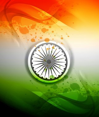 Republic day stylish indian flag tricolor wave colorful vector b