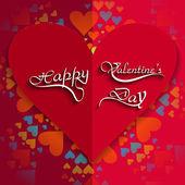Happy srdce Valentýna karty s nápisy text barevné b