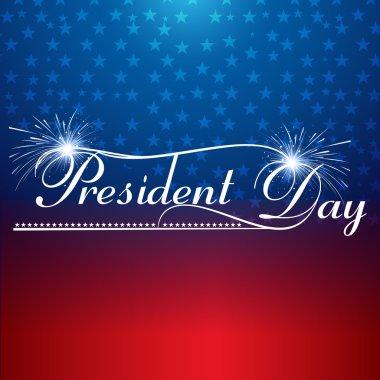 Presidents day background united states stars illustration vecto