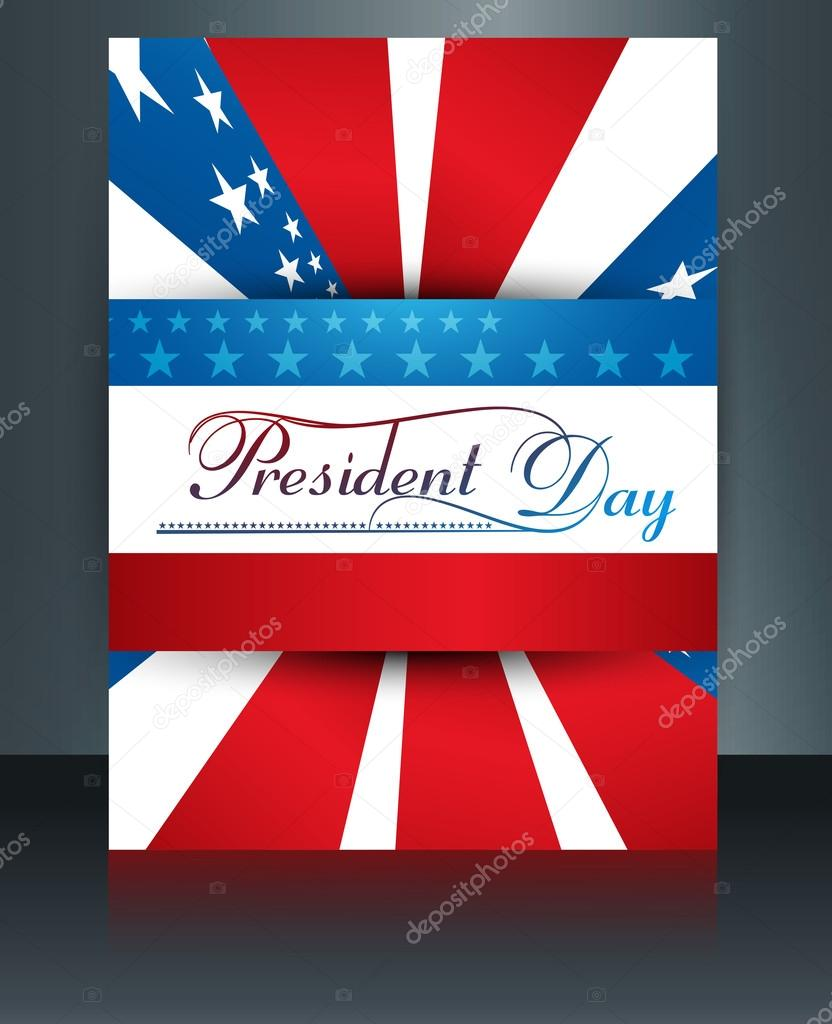 president day in united states of america brochure template desi stock vector