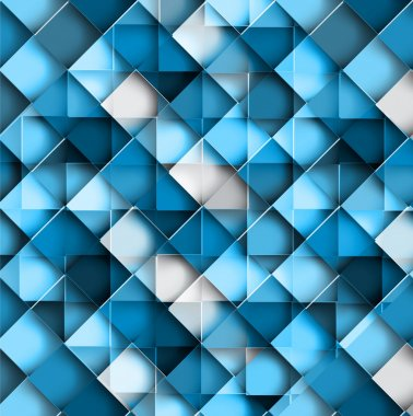 Mosaic Seamless blue colorful geometric pattern repeating textur