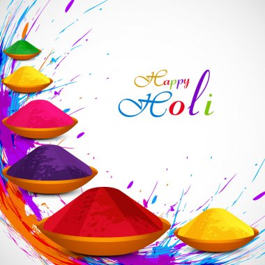 Beautiful gulal colorful background of holi festival grunge desi