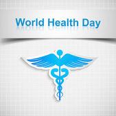 Fotografie abstrakte Welt Gesundheit Tag medizinischen Hintergrund mit Caduceus Sanitäter