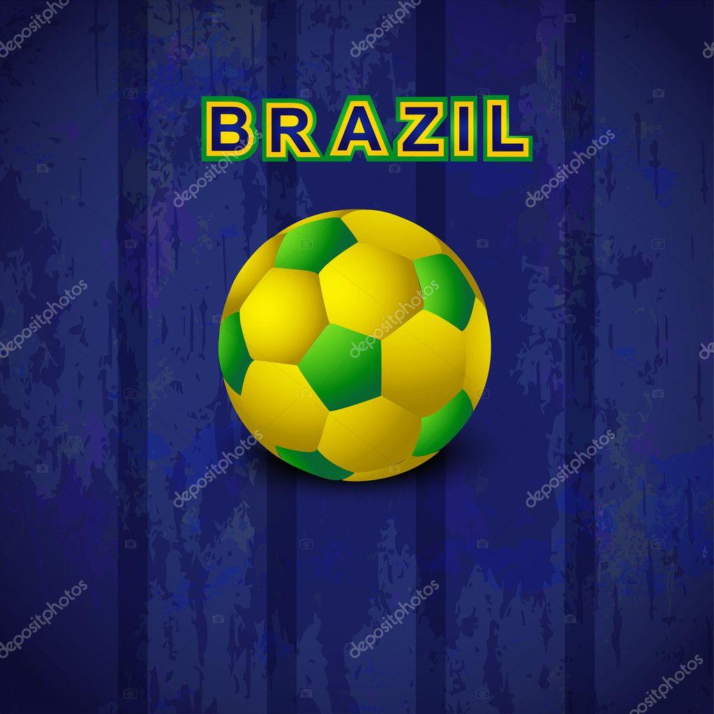 Vectores sin royalties similares  Balón de fútbol abstractos con colores de  la bandera nacional brasileña. e1067b2158044