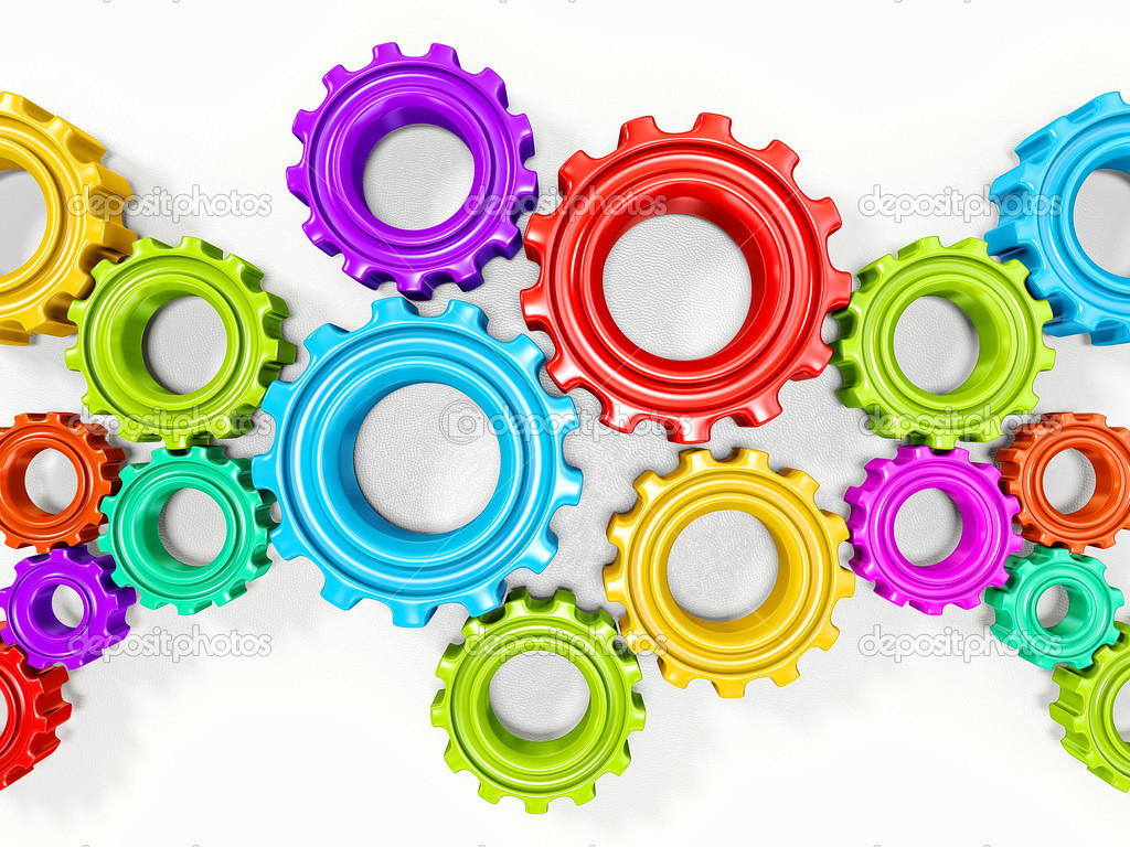 colorful gears — Stock Photo © alexroz #19922201