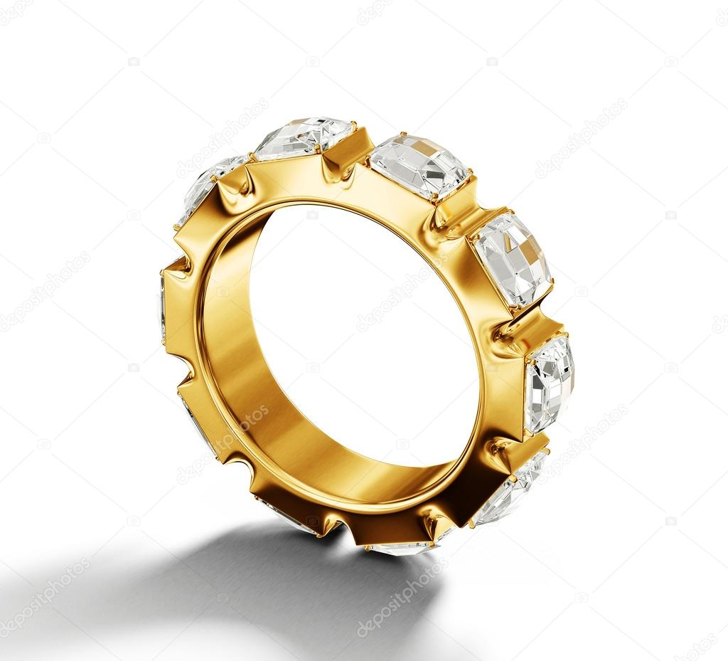 Jewelry ring isolated on a white background