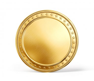 Gold coin isolated on a white background stock vector