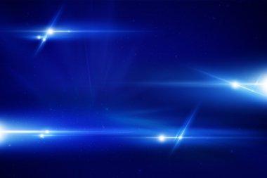 Blue Laser Background