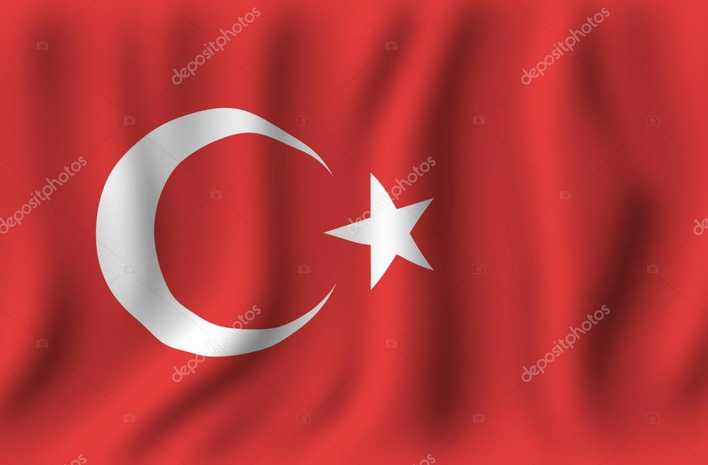Waving Turkish Flag