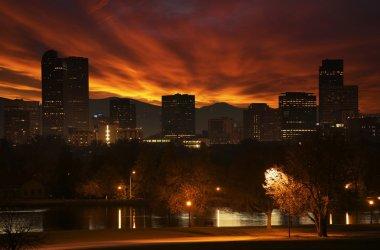Reddish Sunset in Denver