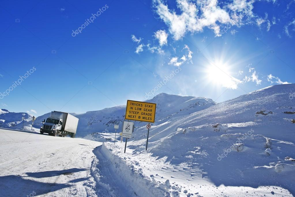 Dangerous Winter Road