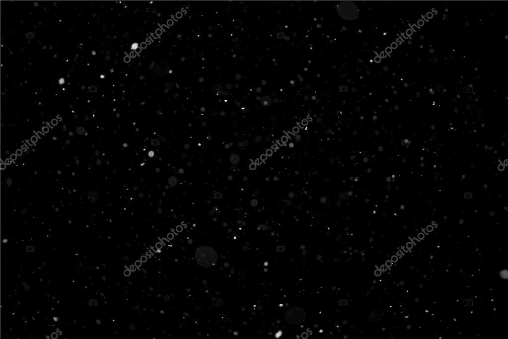 Light Snow on Black