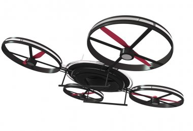 Drone Illustration 3D Isolated