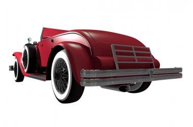 kırmızı spor klasik otomobil