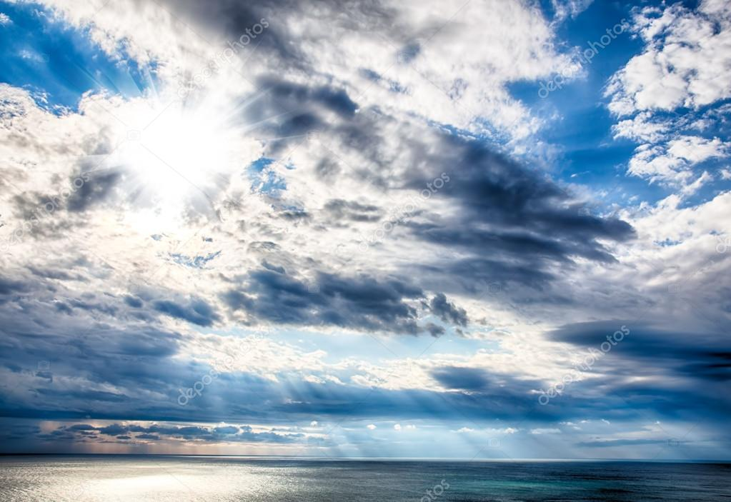 Colorful sky with clouds and sea as background hdr image stock colorful sky with clouds and sea as background hdr image photo by moscowbear thecheapjerseys Image collections