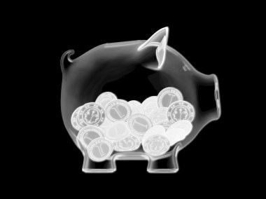 Piggy bank - X-ray