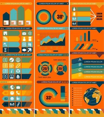 Set of infographic design templates
