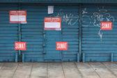 A shop closed by the SUNAT in Lima, Peru