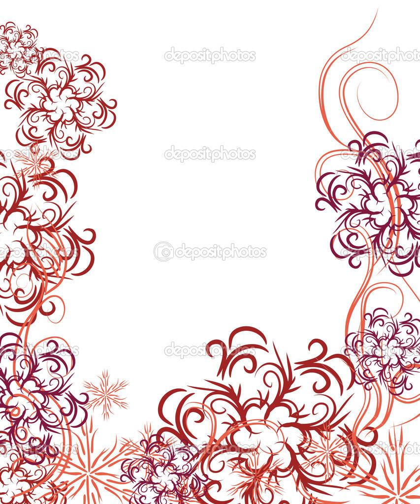 hermoso marco delicado para su diseño — Archivo Imágenes Vectoriales ...