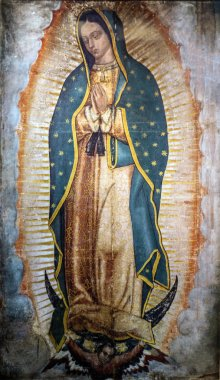 Image of Our Lady of Guadalupe in the New Basilica, Mexico