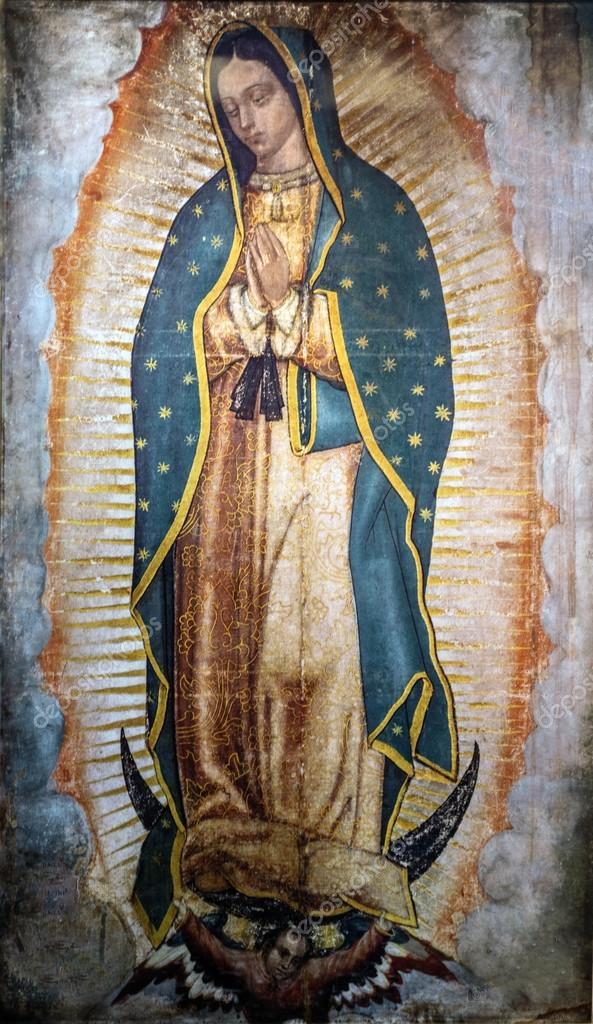 Image of Our Lady of Guadalupe in the New Basilica, Mexico ⬇ Stock Photo,  Image by © mark52 #13372032