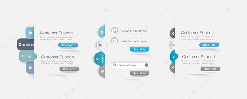 Elementos de navegao do site modelo projeto menu vetores de elementos de navegao do site modelo projeto menu vetores de stock ccuart Gallery