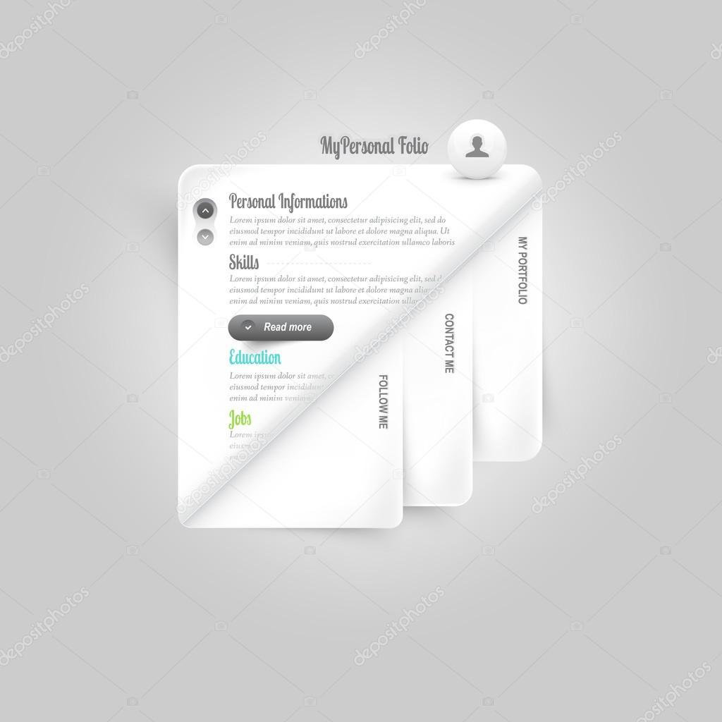 Website-Vorlage-Elemente: persönliche Vcard Vorlage: persönliches ...