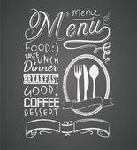 Fotografia illustrazione di un elemento grafico vintage per menu lavagna