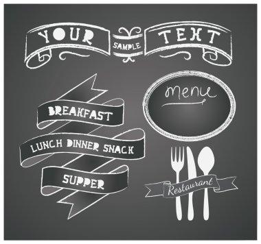 векторный набор элементов дизайна для меню на классной доске