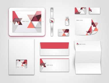 Corporate identity kit or business kit for your business stock vector
