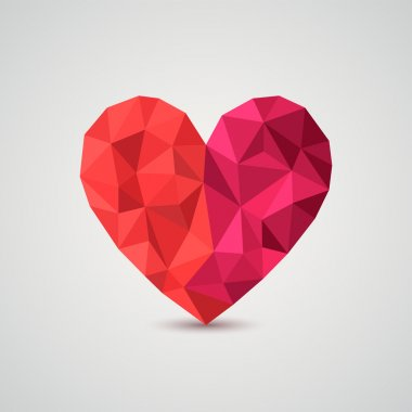 Origami heart. Vector Illustration.