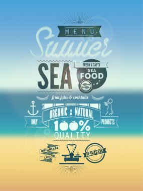Summer Menu Poster. Vector illustration.