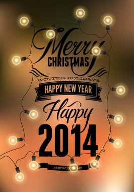Happy New Year design.