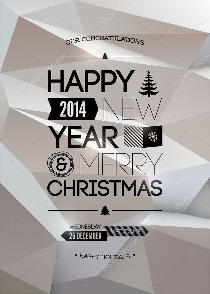 Merry Christmas & Happy New Year design.