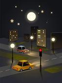 Fotografia città di notte paesaggio da carta