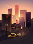 Fotografia paesaggio urbano di mattina di carta