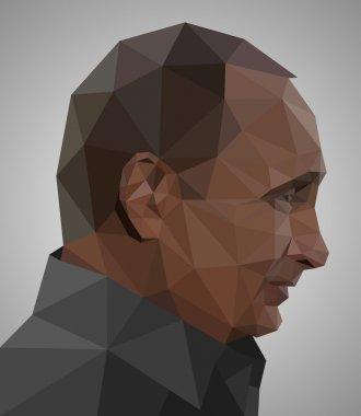 Vladimir Putin in origami style