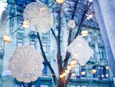Fényképek újévi dekoráció, hópehely