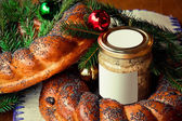 Fényképek hagyományos szláv orosz karácsonyi asztal